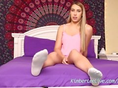 Teen Step Sister Kimber Lee Teases Step Brother With Feet!