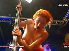 Little Redhead Emma Hardcore Gangbang - German Goo Girls