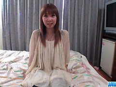 Small tits, Akane Okuno, posing in rough hardcore scenes