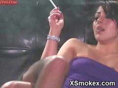 Alluring Teen Smoking Porn