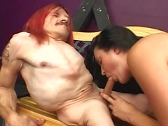 freaky crippled midget with babe 2