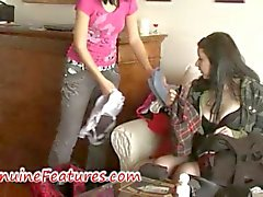 Real czech punk teens in naughty lesbian action