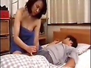 Japanese mateur with younger bj