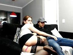 Horny amateur slut gives an amazing blowjob on webcam