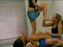 Brazil teen foot lesbians