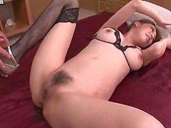 Asian babe having squirting orgasms