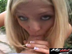 Blonde Teen Leah will do anything
