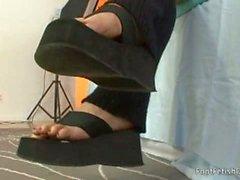 Karina's lesbian foot fetish
