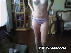 young girl first time on webcam homemade