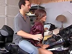 elegant schoolgirl fucks in the garage