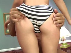 The pretty, blonde haired teen, Lexi Belle didnt her stepdad and decided to