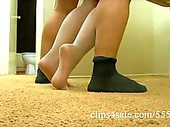 Pantyhose clip compilation