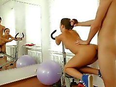 Sexy teen gets screwed by her gym trainer