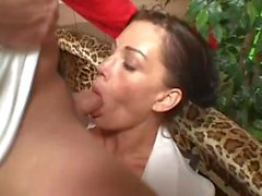 Young athlete fucks a milf in glasses