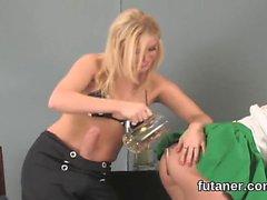 Kinky teenies bang the biggest belt cocks and spray love jui