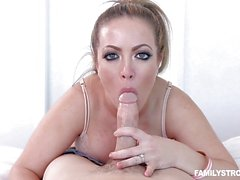 Carmen Valentina bouncing on a big cock