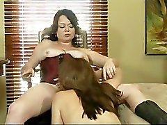 Horny Lesbians Work - scene 3
