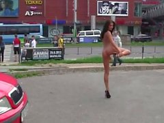Czech Michelle nude in crowded streets