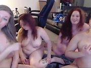 Fat teen with big boobs masturbating on cam