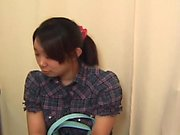 Naughty asian nympho fingering her hairy