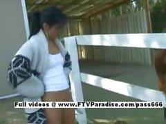 Priscilla funny teenage babe posing