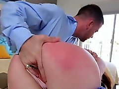 He got Leigh's ass spanked and fucked hardcore