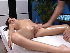 Petite teen blonde chick plays with fat stiff piece of meat