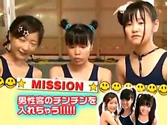 Insatiable Japanese teens take turns blowing and banging a
