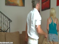 NuruNetwork Callie Carter Gets Massaged by a Young Stud