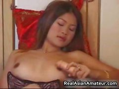 Real asian cutie strips and toys her part2