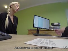 LOAN4K. Sex-hungry agent is ready to help miss if she satisfies him