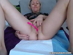 Pretty Good Blonde Camgirl Webcam Squirt Camshow