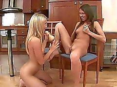 Nice teens having lesbian anal fun