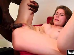 Big black dick disappears in a hot babe
