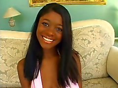 Three cocks vs. 1 mouth (teen ebony)!