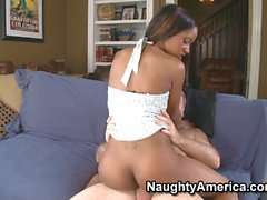 This teen sexy black girl fucks an old man