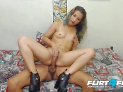 Fox Kelly and Latin Zander on Flirt4Free - Sexy Latina Gets a Warm Creampie