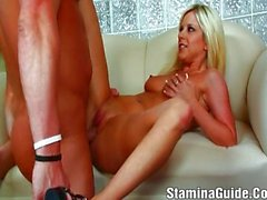 Young Blonde Want A Tit Fucking