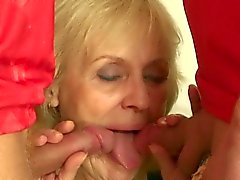 Old bet loser handles two cocks