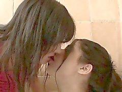 Two naugthy kissing lesbian teen girls part5