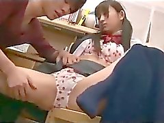 Schoolgirl Learning With Guy Getting Her Pussy