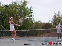 Tennis teen facial bbc