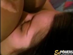Vintage teens lick each other and bang with a strapon