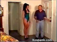 Sexy Bondage Hoe Spanked Wildly