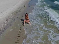 Beautiful teen girl Edes at the beach