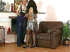Russian mature and young man hot action
