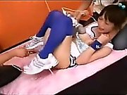 Japanese Cheerleader Crazy With Sex Toys