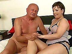 Chubby girl fucking with grandpa
