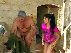 Young girl fucked by two older men