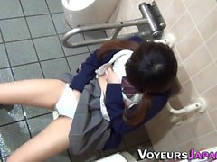 Asian teen rubbing clit